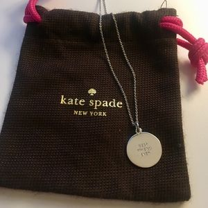 """Kate Spade Silver Necklace """"Best Friend Ever"""""""